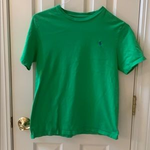 Boys Ralph Lauren short sleeve cotton tee green